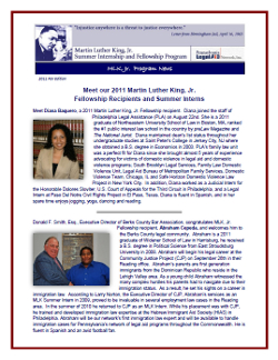 MLK Newsletter - Fall 2011