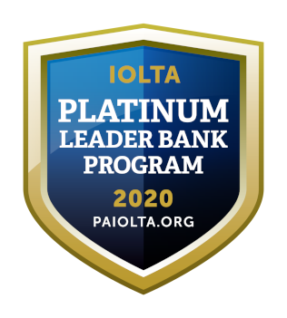 IOLTA Platinum Leader Bank Program logo